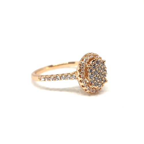 Round Stones Goldplated Ring