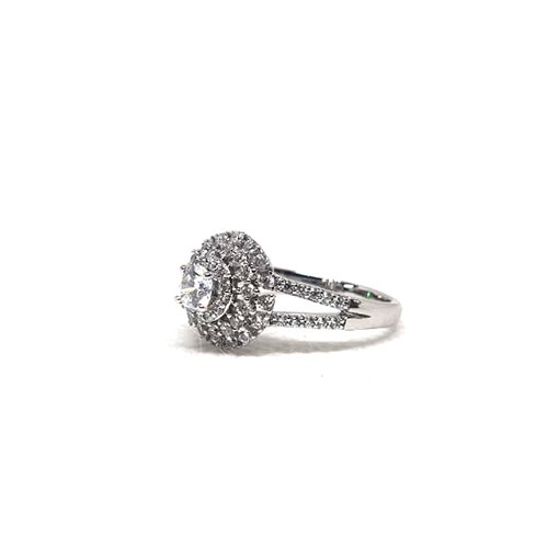 Silver Plated Crystal Stones Ring For Women 3