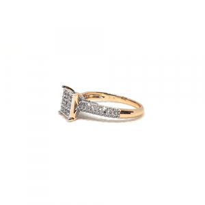 Square Zircons Style Ring Goldplated 3