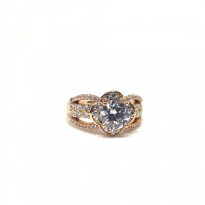Stunning Floral Style Big Crystal Stone Ring 2 (1350)