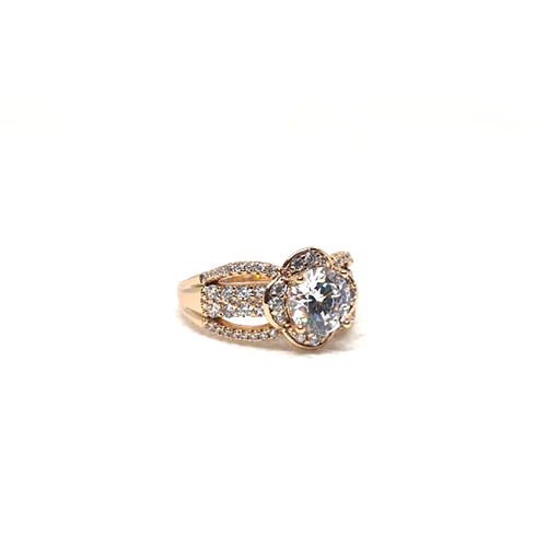 Stunning Floral Style Big Crystal Stone Ring