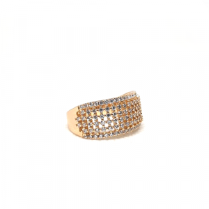 Stunning Goldplated Cage Style Stones Ring