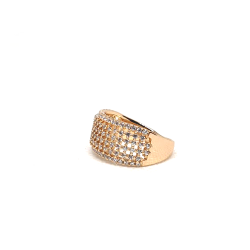 Stunning Goldplated Cage Style Stones Ring 2