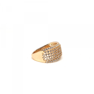 Stunning Goldplated Cage Style Stones Ring 3
