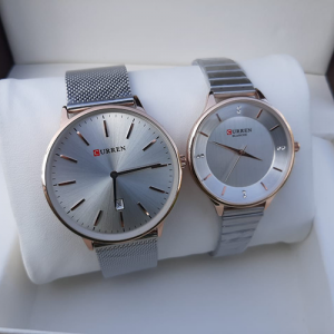 Stunning Silver Couple Watch
