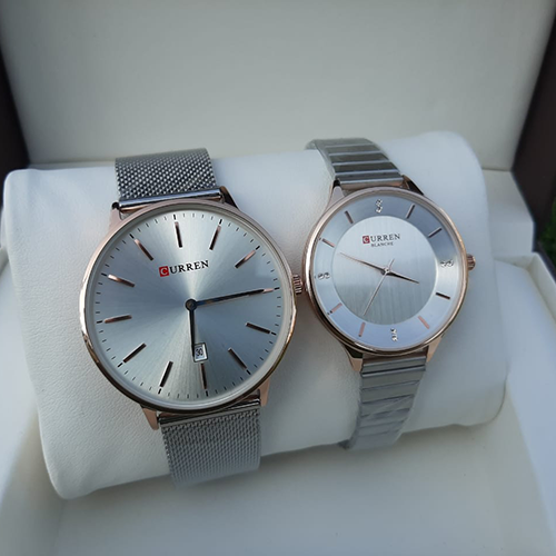 Stunning Silver Couple Watch 3