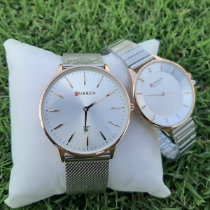 Stunning Silver Couple Watch 4