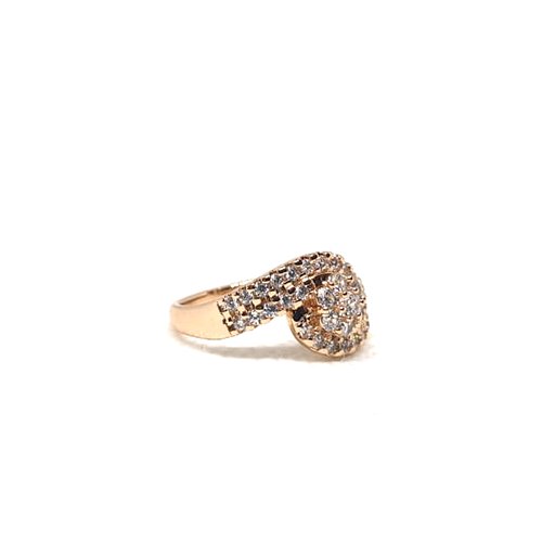 Stylish Curve Stones Goldplated Ring 2