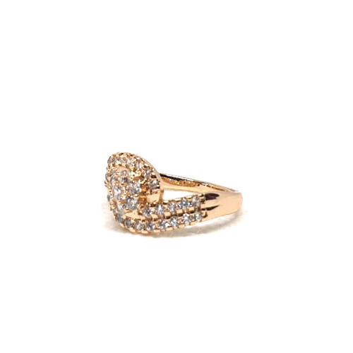 Stylish Curve Stones Goldplated Ring 3