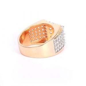 GoldPlated Zirconia Ring For Men