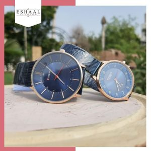 Curren Blue Couple Watches
