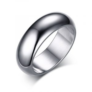 Unisex Silver Stainless Steel Band