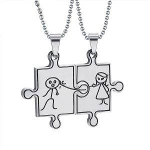 unisex  Puzzled – Double Necklace
