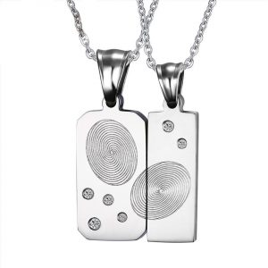 Unisex  Finger Print –Necklace