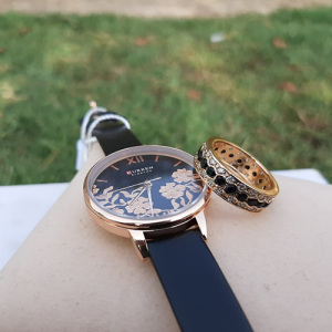 Black And Golden Watch with Ring Deal 3