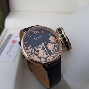 Black And Golden Watch with Ring Deal
