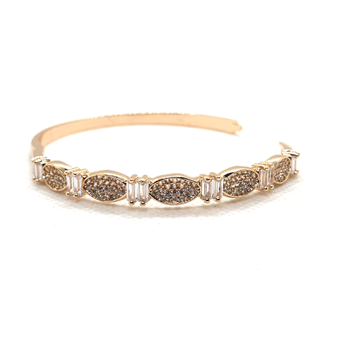 Crystals With RhineStones Goldplated Bangle 2