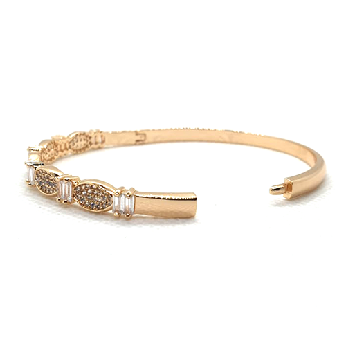 Crystals With RhineStones Goldplated Bangle 3