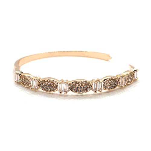 Crystals With RhineStones Goldplated Bangle