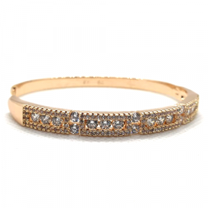 Goldplated Fancy Crystal Goldplated Bangle