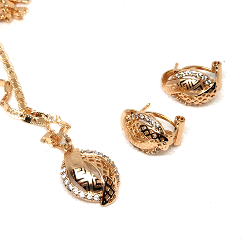 Goldplated Shinny Locket Set with Chain 2