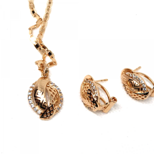 Goldplated Shinny Locket Set with Chain