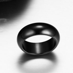 Men Black Stainless Steel Ring