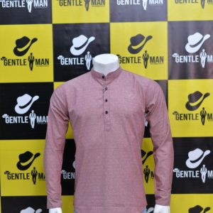 Fashionable Light pink Kurta Style Men Shirt