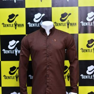 Fashionable Dark Brown Men Shirt