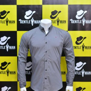 Fashionable Plain Grey Men Shirt