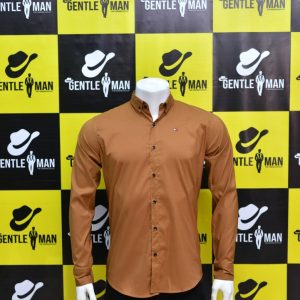 Fashionable Light Brown Men Shirt