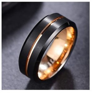 Black Track – Tungsten Carbide Ring