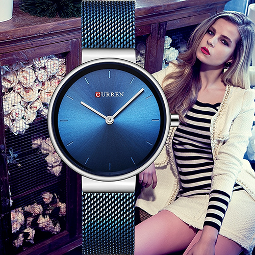 Curren Blue with Silver Women Watch