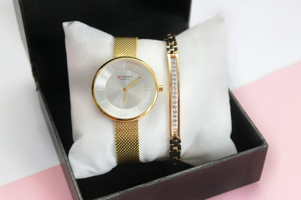 Curren Watch With Goldplated Bracelet Deal 1