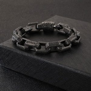 Antique Grey Stainless Steel Men Bracelet 2