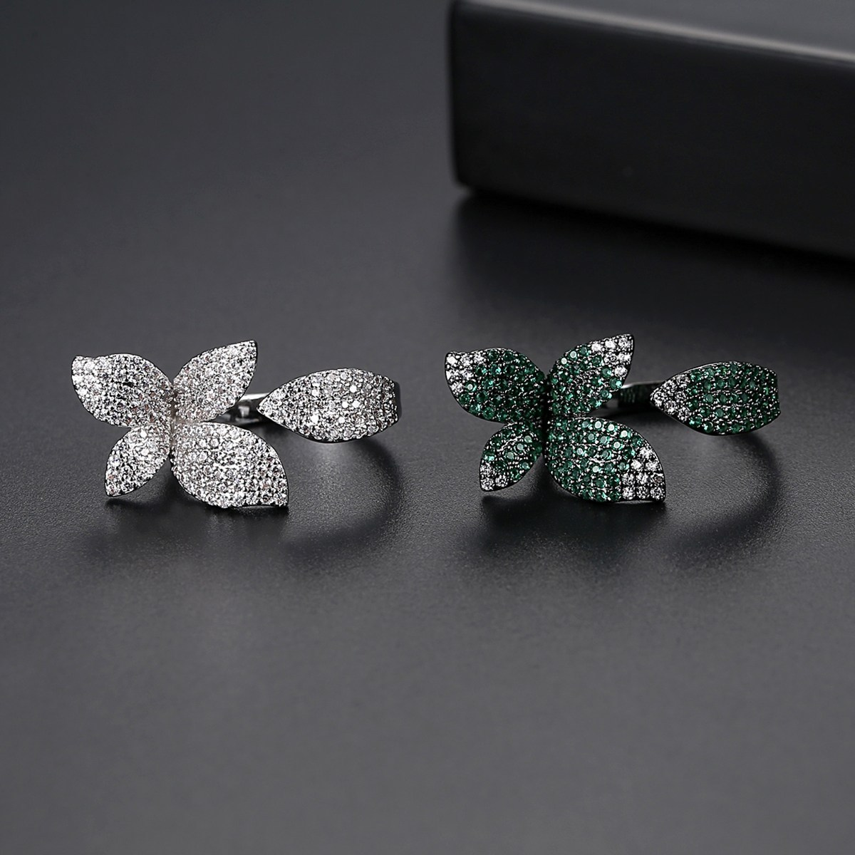 Flower Style Rhodium Plated Ring For Women 3