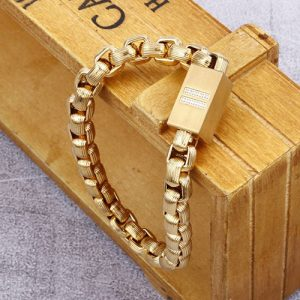 Goldplated Magnetic Stainless Steel Bracelet