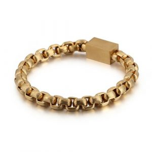 Goldplated Magnetic Stainless Steel Bracelet 5