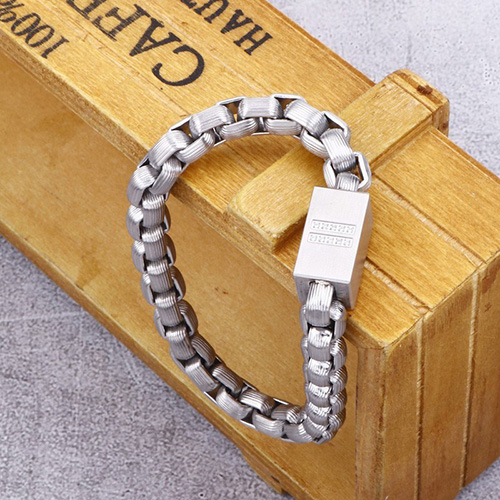 Silverplated Magnetic Stainless Steel Bracelet