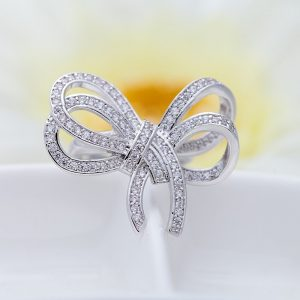 Stunning Knot Style Silver Plated Ring For Women 3