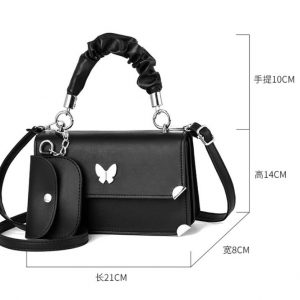 Red Butterfly New Ladies Messenger Small Bag Korean Style Small Fresh Shoulder Bag With Unique Design Female Bag Lady handbag 11