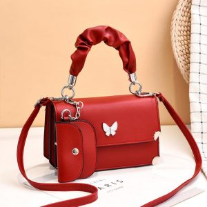 Red Butterfly New Ladies Messenger Small Bag Korean Style Small Fresh Shoulder Bag With Unique Design Female Bag Lady handbag