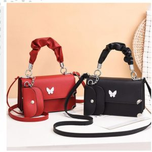 Red Butterfly New Ladies Messenger Small Bag Korean Style Small Fresh Shoulder Bag With Unique Design Female Bag Lady handbag 9