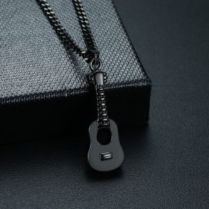 EshaalFashion Guitar Pendant with Chain for Men and Women