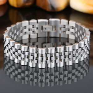 EshaalFashion Classic Stainless Steel Bracelet for Men