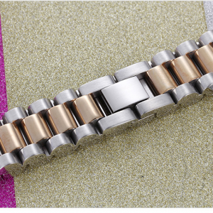 EshaalFashion Two Tone Stainless Steel Bracelet for Men