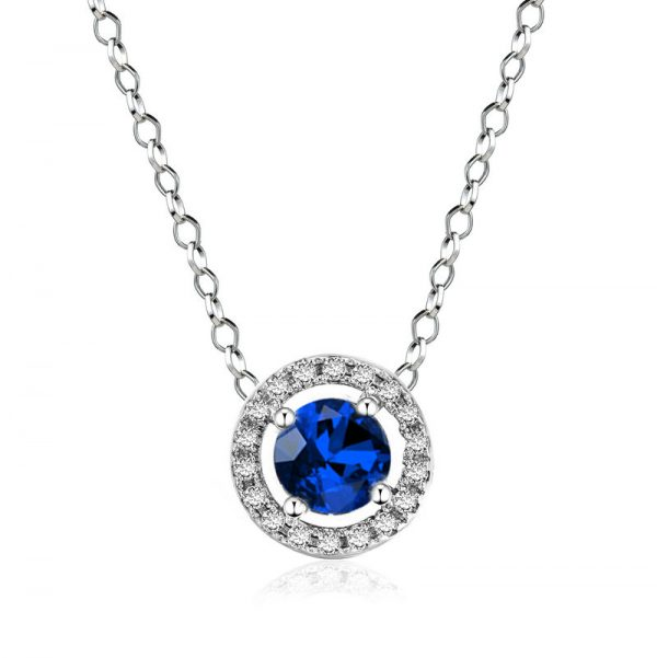 Sapphire Pendant and Earring Set 10