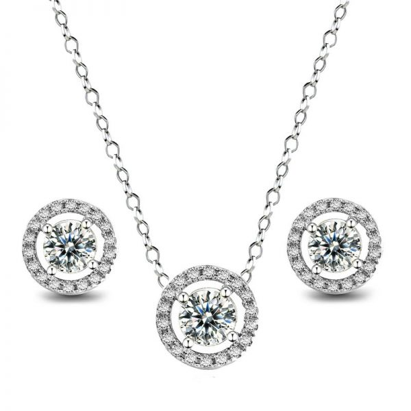 Sapphire Pendant and Earring Set 2