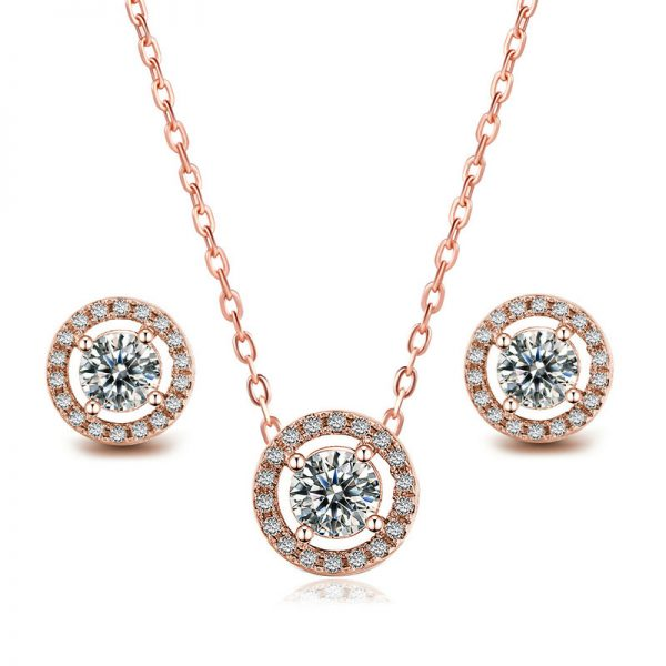 Sapphire Pendant and Earring Set 3