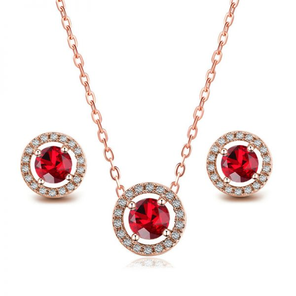 Sapphire Pendant and Earring Set 4